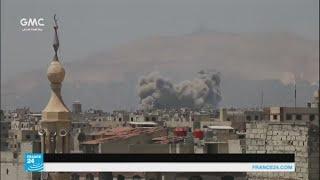 معارك بين فيلق الرحمن وأحرار الشام في الغوطة الشرقية قرب دمشق