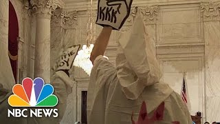 Jeff Sessions Protesters Dress In KKK Garb At Confirmation Hearing | NBC News