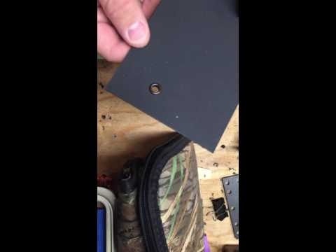 Removing eyelets from Kydex