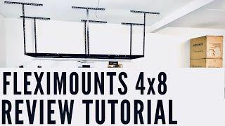 FLEXIMOUNTS Overhead Garage Storage Rack - REVIEW & HOW To Install