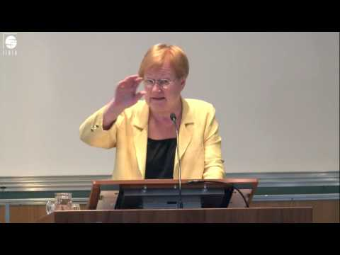 Lecture by Her Excellency Tarja Halonen: Equality – The Core of Sustainable Development