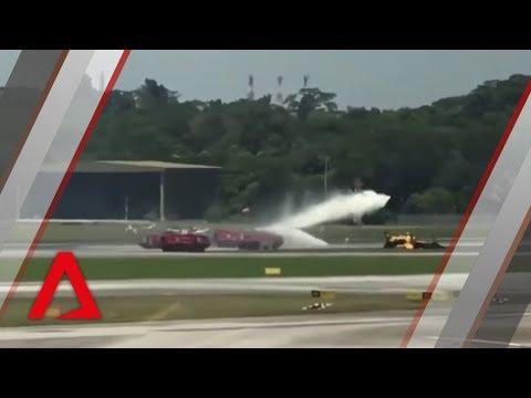 Korean plane taking part in Singapore Airshow crashes at Changi Airport
