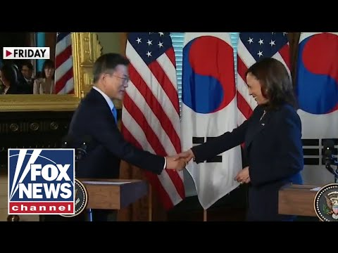 Kamala Harris under fire for wiping hand after handshake