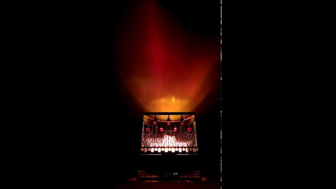 Silk Flame Lamp   Peacock Fireplace Brazier