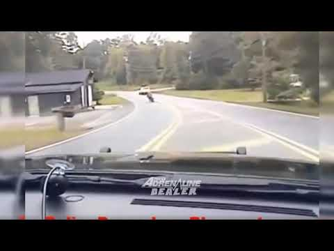 Cop Chases Motorcycle For Traffic Violation Ends Up Crashing Police Car