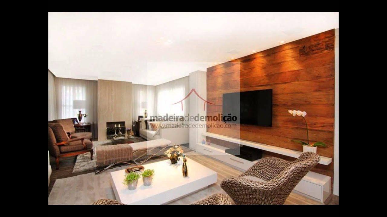 Painéis de madeira para sala / Painéis de Parede   #B54916 1024x768
