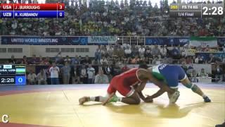 Jordan BURROUGHS (USA) vs Rashid KURBANOV (UZB) in Tashkent 2014