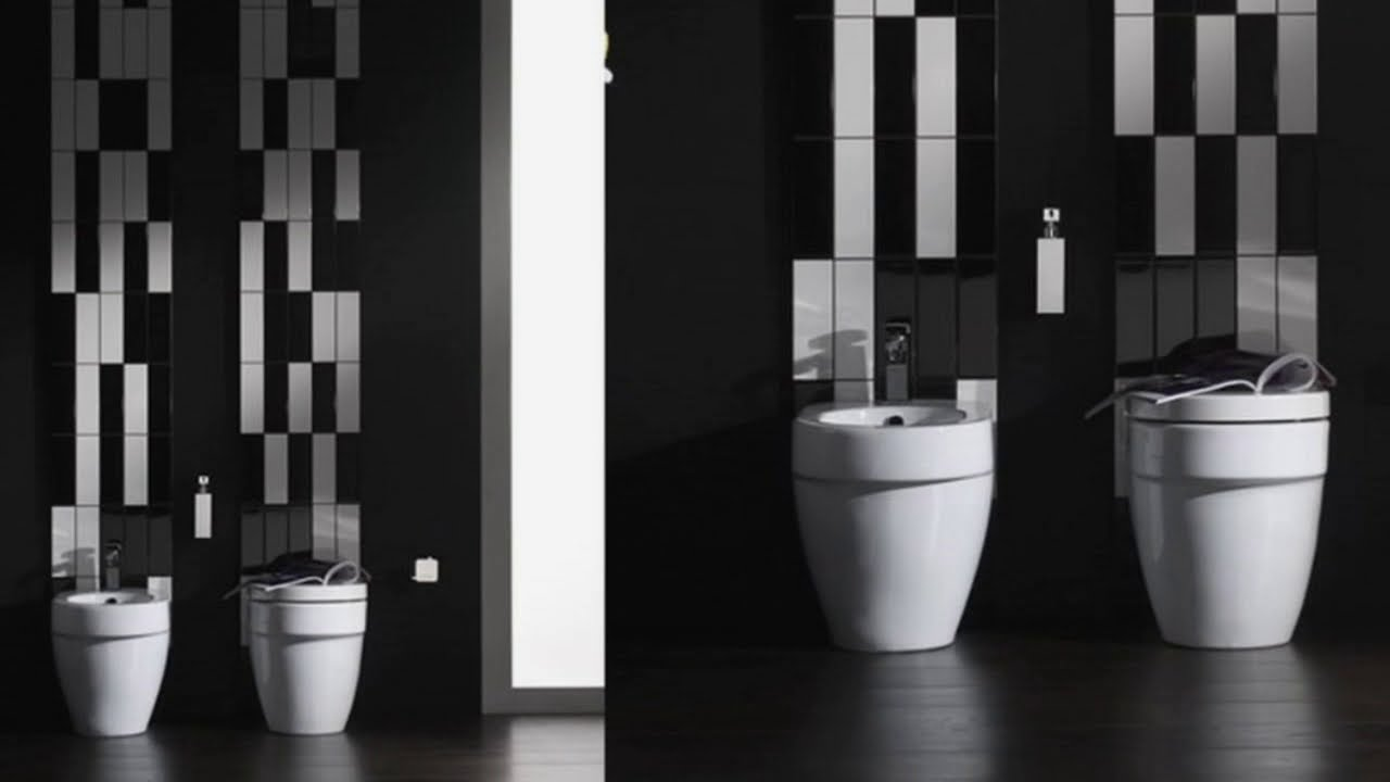 Black And White Bathroom Tiles In A Small Youtube