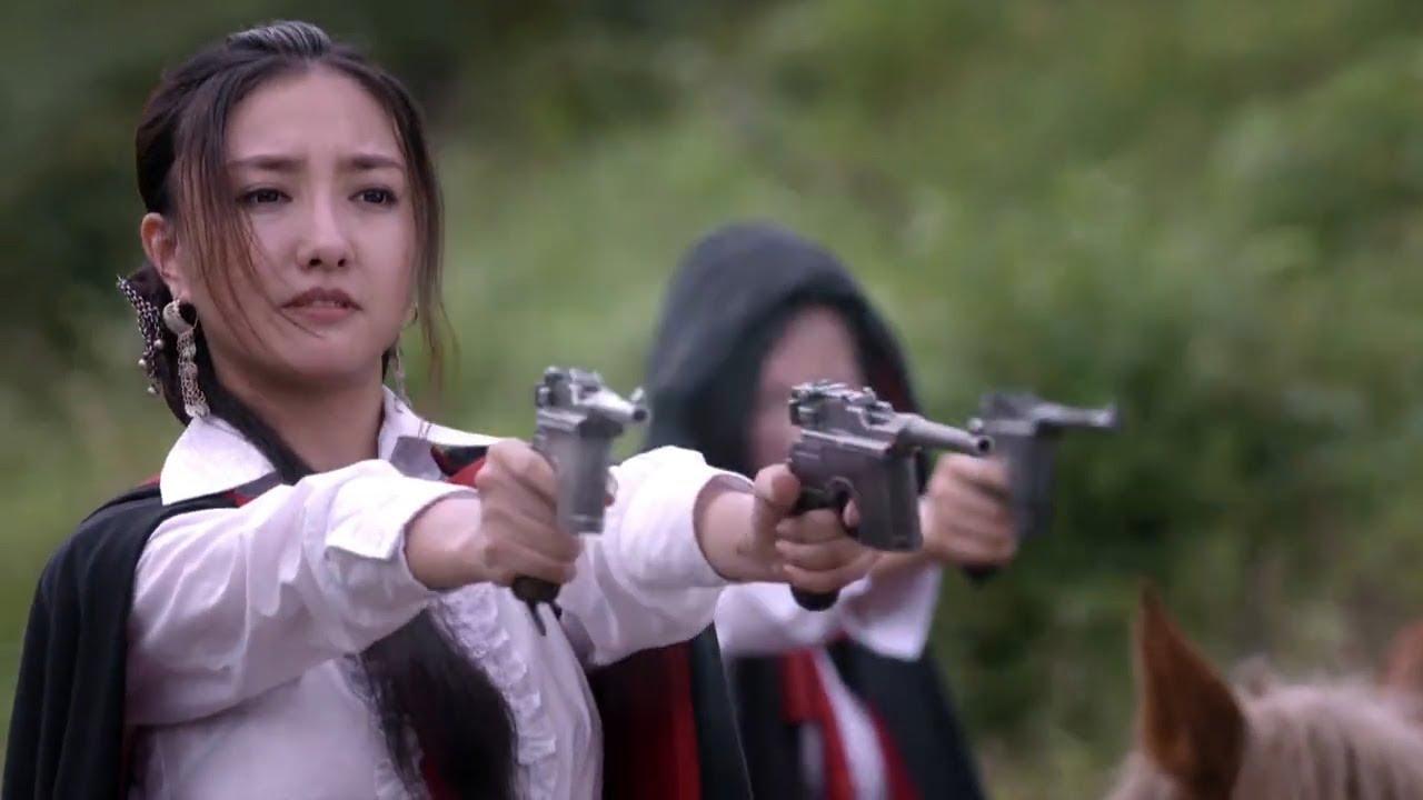 紅色娘子軍主動出擊。手持雙槍正面挑戰日軍三八大蓋。一路橫掃! - YouTube