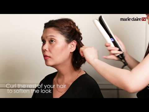 Easy Hairstyles For Short Hair #1 - The Half Up Crown Braid