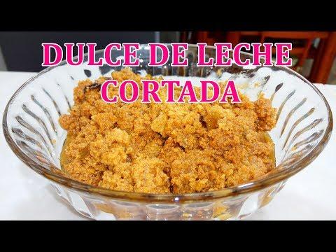 COMO HACER DULCE DE LECHE CORTADA