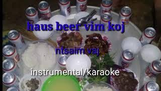 Haus beer vim koj - ntsaim vaj . Instrumental/karaoke