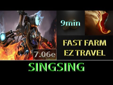 SingSing [Tinker] Fast Farm ► EZ Boots of Travel ► Dota 2 7.06e