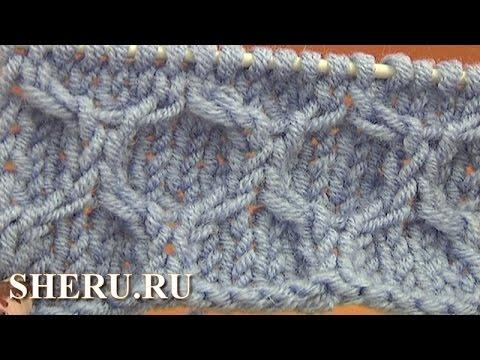 Knitting Cable Stitch Pattern Урок 14 Вязание узора ячейки