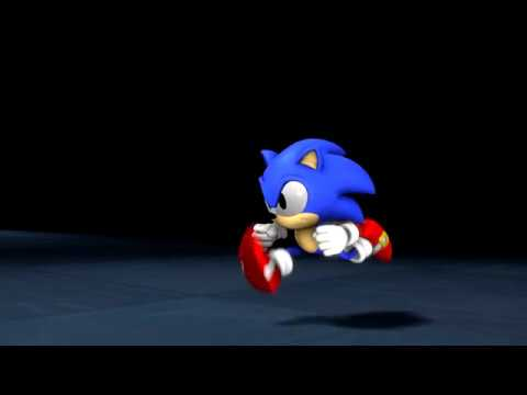 Sonic Sfm Animation Classic Sonic Running Animation Test Youtube