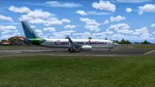 [FS2004 - HD] Caribbean 738 St.Maarten Takeoff