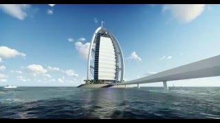 Animación Burj Al Arab - Materialidad y espacios HD