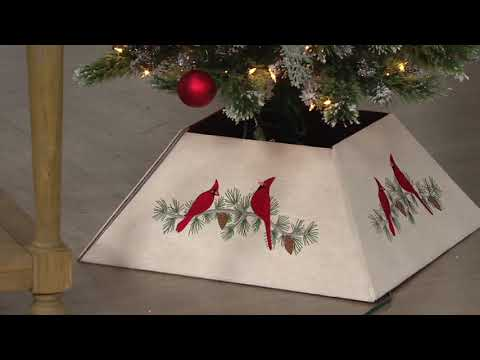 Reversible Cardinal or Plaid Print Tree Collar by Valerie on QVC