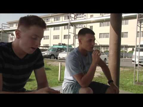 Service members explore the effects of smoking