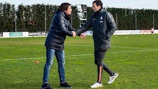 Il ct Conte  incontra la Juventus - Conte meets Juventus