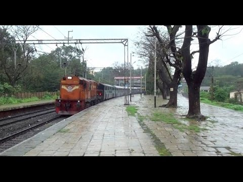 7Mins of Refreshing Compilation of Trains at Khandala Railway Hill Station in Monsoon & Spring