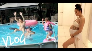 Vlog: Maternity Shoot Shopping , Niece Does My Makeup & Pool Turn Up