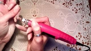 Снятие гель лака фрезой с АлиЭкспресс, фрезер с AliExpress.Апаратный маникюр фрезером с aliexpress.