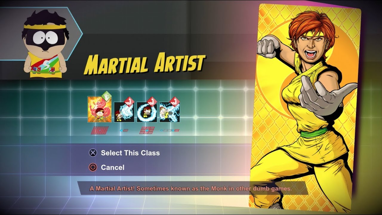 [South Park: The Fractured But Whole] Martial Artist Class Gameplay (All  Abilities + Ultimate)
