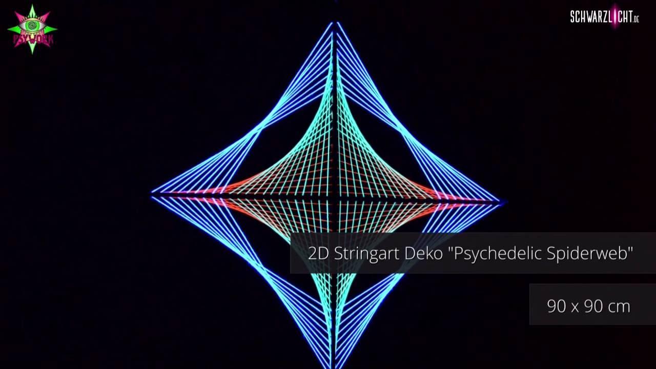 2d stringart schwarzlicht deko psychedelic spiderweb by youtube. Black Bedroom Furniture Sets. Home Design Ideas
