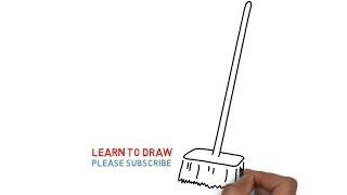 How To Draw a Broom Step By Step For Kids
