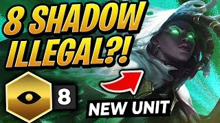 ILLEGAL 8 SHADOW EXODIA SYNERGY?! ft. NEW SENNA | TFT | Teamfight Tactics Set 2 | LoL Auto Chess