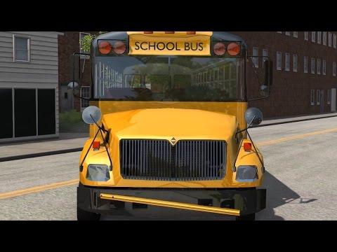 BeamNG Drive - Blue Bird American School Bus Trailer