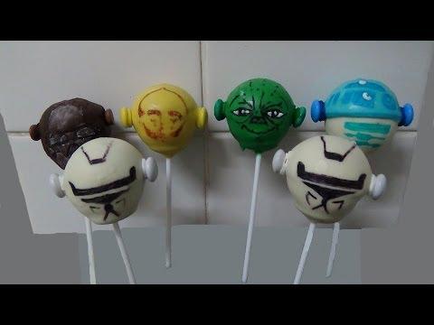 cake balls pops, star wars twistheads