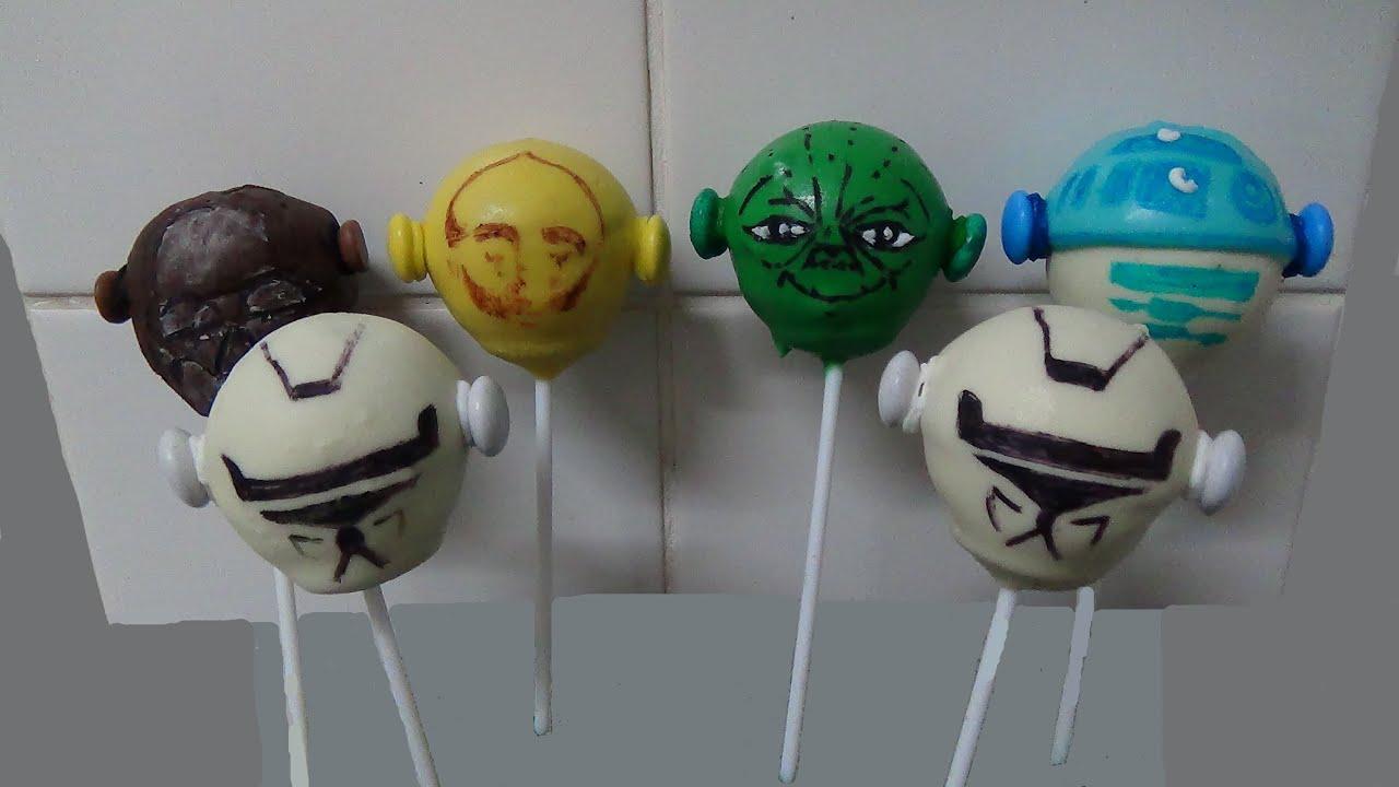 Star Wars Cake Pop Images : cake balls pops, star wars twistheads - YouTube