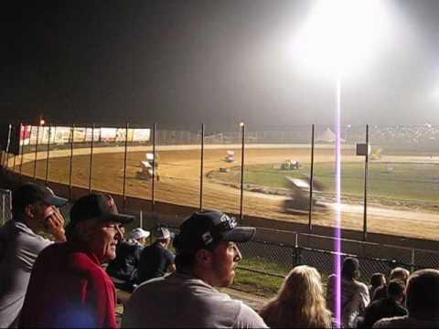 305 Sprint Car Feature Lake Ozark Speedway 9-6-09 (Part 1)