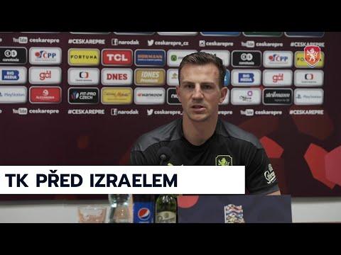 ČR A   Tisková konference před zápasem Ligy národů s Izraelem