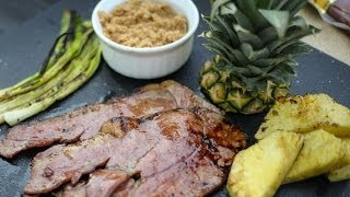 How To Grill Country Ham Steak With Fresh Pineapple