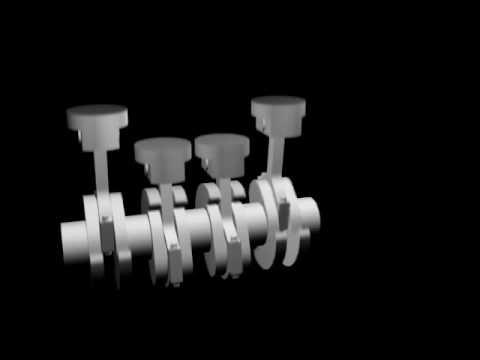 Straight 4 Engine Animation Youtube
