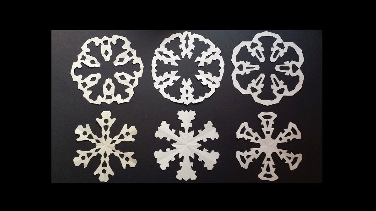 Paper snowflake designs  how to make paired snowflakes in one cut