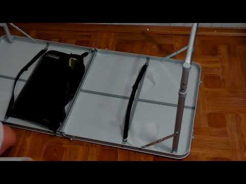 Распаковка Компактный столик и складывающиеся стулья Ranger ТA 21407+FS 21124 из Rozetka com ua