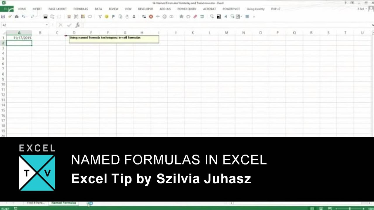 Using Named Formulas In Excel   Like Yesterday   Excel TV