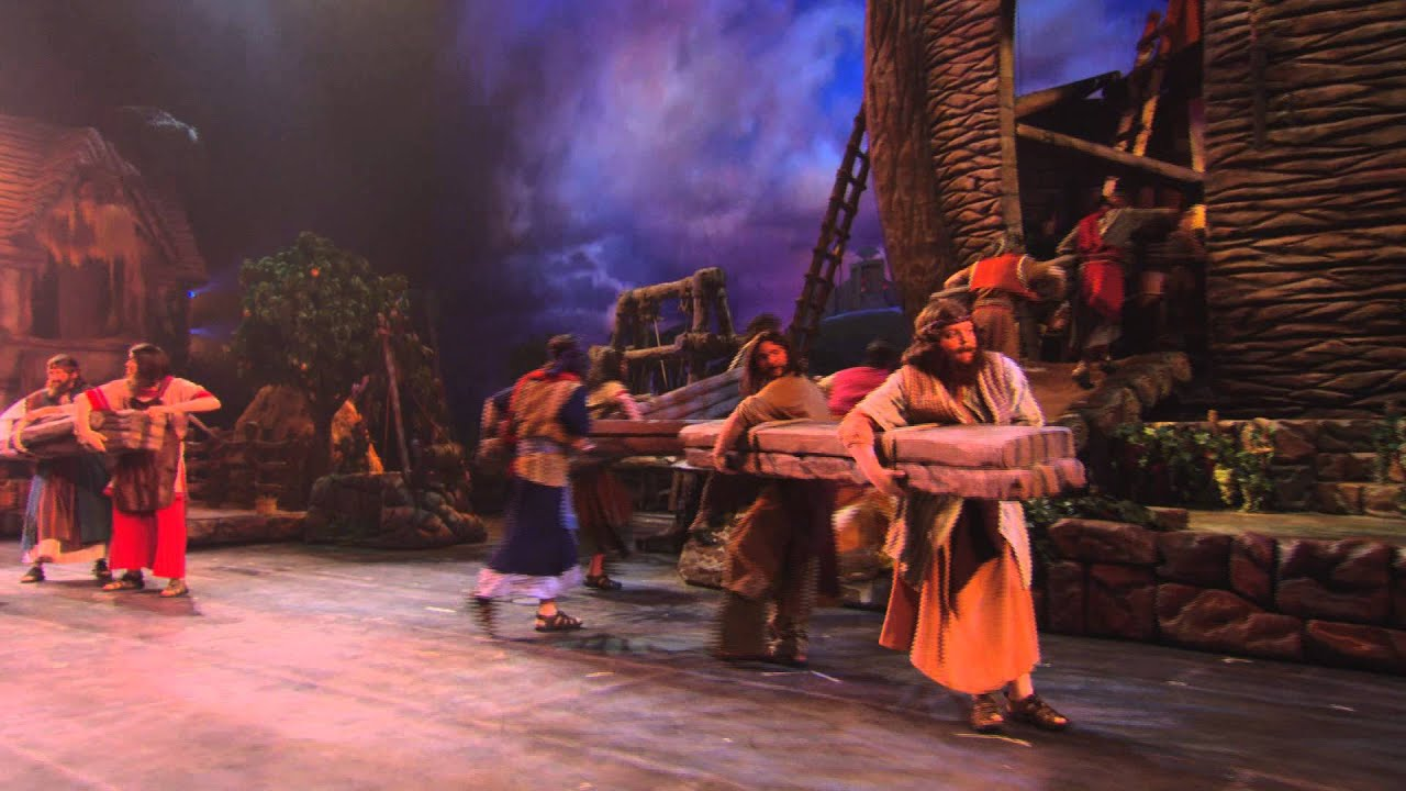 Sight And Sound Miracle Of Christmas.Scene From Noah At Sight Sound Theatres