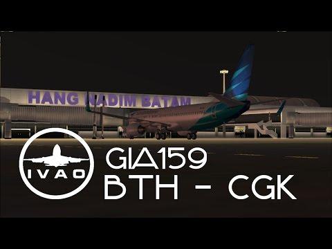 GIA159 BTH-CGK (Batam - Jakarta) | Real Flight Event IVAO