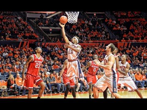 Illini Basketball Highlights vs NC State 11/29/16
