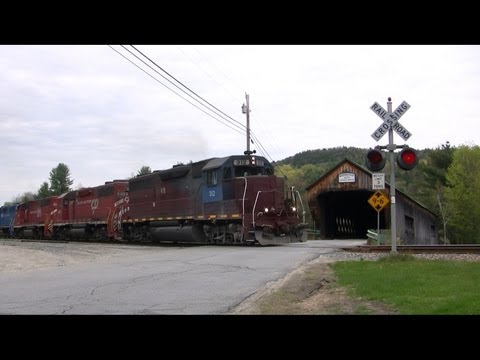 Vermont Railway Train Chase Through the Green Mountains Spring 2011
