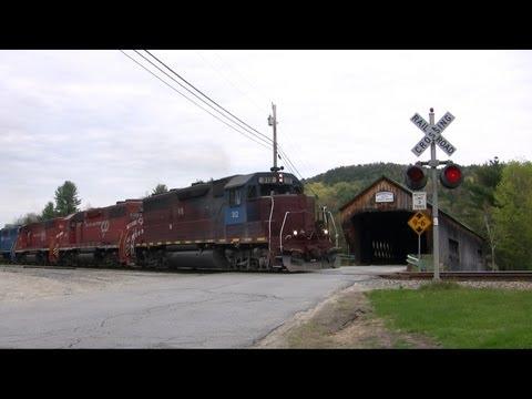 Vermont Railway Train Chase Through the Green Mountains Spring 2011