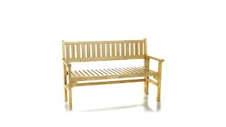 Hgtv Home Foldable Outdoor Wooden Bench