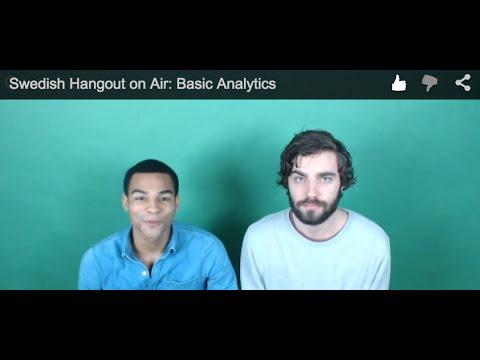 Swedish Hangout on Air: Basic Analytics