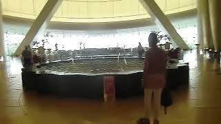 Fountain in the Hall of The Burj Al Arab Hotel. Luxury 7*
