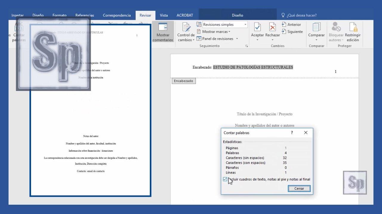 word cmo hacer portada segn normas apa vdeo mejorado tutorial en espaol hd